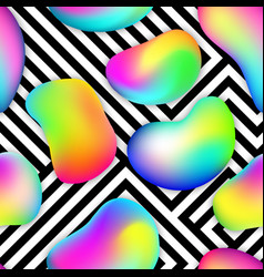 Seamless pattern made multi-colored bubbles and vector