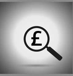 Search money icon vector