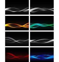 Set of Backgrounds on black vector image