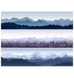 set of horizontal backgrounds vector image vector image