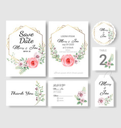 Set wedding invitation cardsave date vector