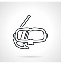 Snorkeling mask black line icon vector