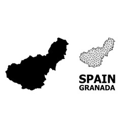 Solid and mesh map granada province vector