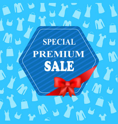 special premium sale colorful advertising banner vector image