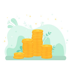 stacks gold coins investments growth vector image