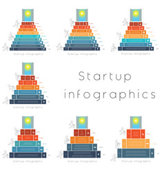startup infographics templates for 3456789 vector image
