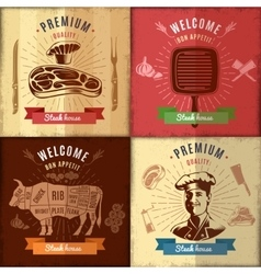 Steak House Emblem Design vector