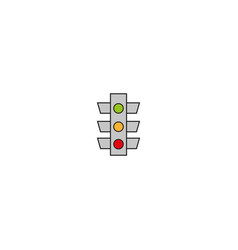 stoplight sign icon traffic light on white vector image
