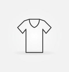 t-shirt outline icon tshirt symbol vector image