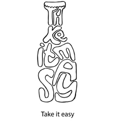 Take it easy Inspiration vector image