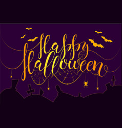 Thematic postcard to helloween with unique vector
