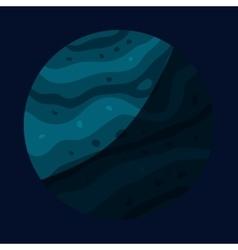 Uranus planet icon cartoon style vector