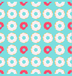 white and red donuts vector image