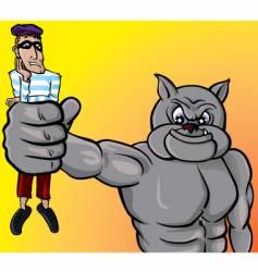 beware dog thief vector image vector image