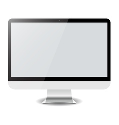 Computer display imac isolated on white vector image