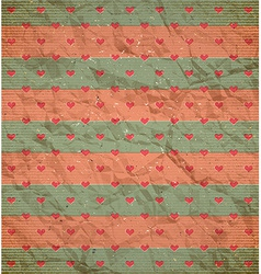 Hearts pattern on the cardboard vector image vector image
