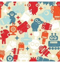 Robots seamless background vector image