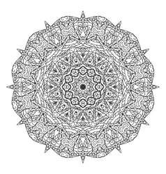 Round element for coloring book Mandala vector image