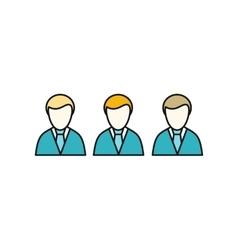 Social Icon Employees vector image