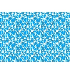 White neural network on blue abstract background vector image vector image