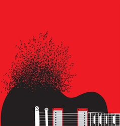 Abstract guitar music background vector image