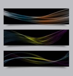 bright colors wave horizontal banner vector image