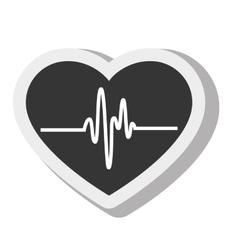 cardio pulse heart isolated design vector image