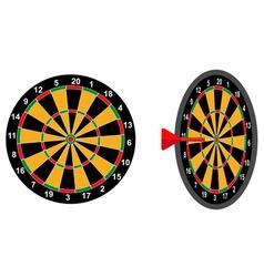 darts game arrow vector image vector image