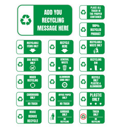 recycle symbols and signs vector image vector image