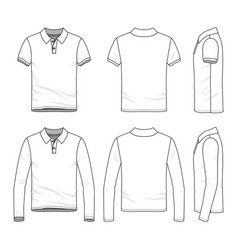 clothing set of male golf polo shirt vector image vector image