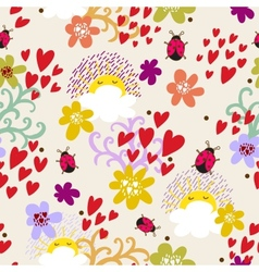 Foral seamless pattern in vector image vector image