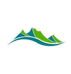 green mountains vector image vector image