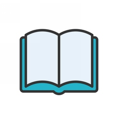 Open Book Outline Icon vector image