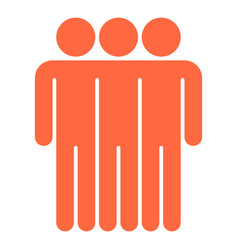 three man sign people icon vector image