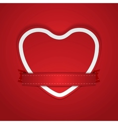 Valentine Day background with paper heart vector image