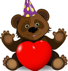 festive bear vector image vector image
