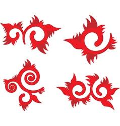 floral fire element vector image
