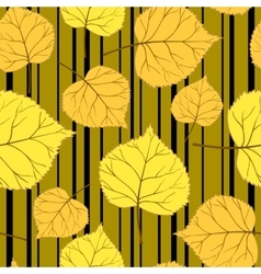 gold Pattern with leaves and stripes-01 vector image