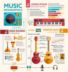 ilustration of different music insruments template vector image