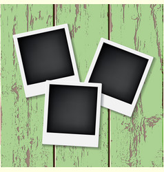 instant vintage photos frames vector image