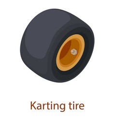 karting tire icon isometric 3d style vector image vector image