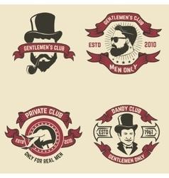 Set of mans club labels vector image