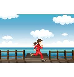 A running girl vector image