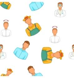 Activities pattern cartoon style vector