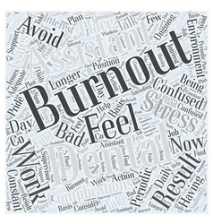 Avoid burnout as a dental assistant word cloud vector