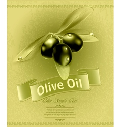 Background with olives vector