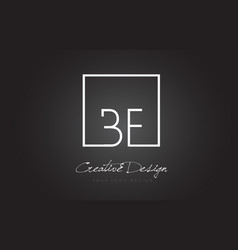 bf square frame letter logo design with black and vector image