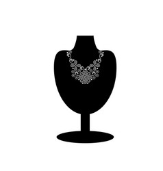 black mannequin with necklace vector image