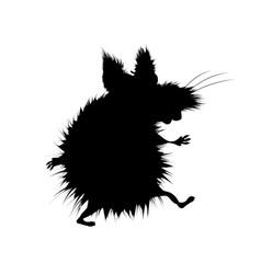 Black silhouette terrible beast werewolf vector