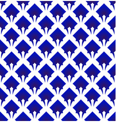 Blue and white modern seamless pattern vector